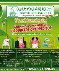 Ortopedia Boliviano Aleman SRL. Cochabamba