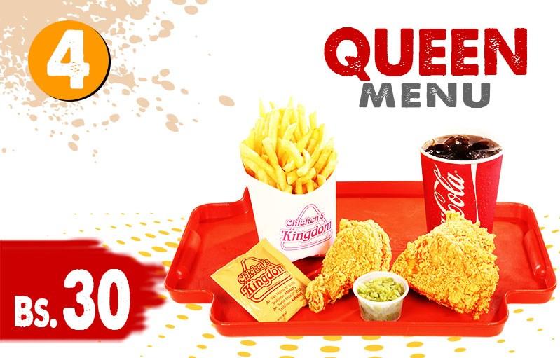 Queen menu